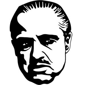 Godfather Marlon Brando Vector